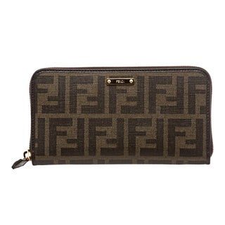 Fendi Tobacco/ Brown Zucca Continental Wallet
