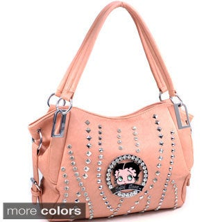 Betty Boop Rhinestone and Multi-studded Hobo Bag