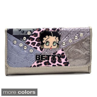 Betty Boop Multi-patch Checkbook Wallet