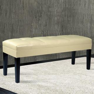 Howard Button-tufted Bonded Leather Bench