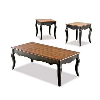 Ingrid Brown Oak/ Black 3-piece Table Set