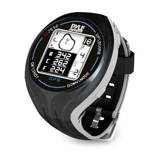 Pyle Black Personal GPS Golf Watch with Automatic Course Recognition