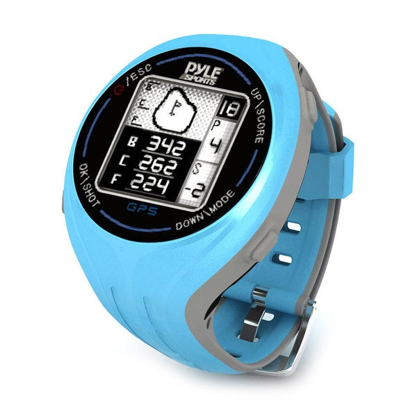 Pyle Blue Personal GPS Golf Watch with Automatic Course Recognition