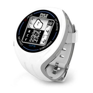 Pyle White Personal GPS Golf Watch with Automatic Course Recognition