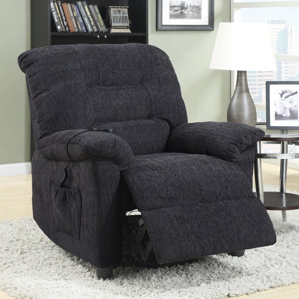 Dark Grey Power Remote Control Lift Recliner