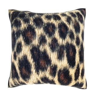 Maxwell Dickson Animal Fur Pattern 18-inch Velour Throw Pillow