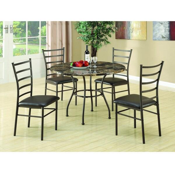 Coaster 5-piece Deep Brown Dining Set