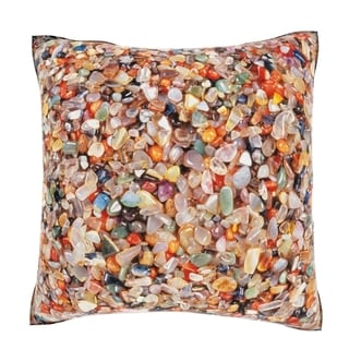 Maxwell Dickson Various Colorful Stones 18-inch Velour Throw Pillow
