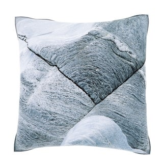 Maxwell Dickson Cracked Frosty Rock 18-inch Velour Throw Pillow