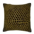 Maxwell Dickson Abstract Snakeskin Leather 18-inch Velour Throw Pillow