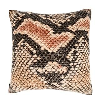 Maxwell Dickson Abstract Snakeskin Texture 18-inch Velour Throw Pillow