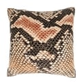 Maxwell Dickson Abstract Snakeskin Texture 18-inch Velour Throw Pillow
