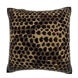 Maxwell Dickson Brown Snakeskin Texture 18-inch Velour Throw Pillow