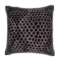 Maxwell Dickson Black Snakeskin Leather 18-inch Velour Throw Pillow
