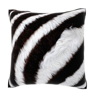 Maxwell Dickson Close-up Zebra Fur 18-inch Velour Throw Pillow