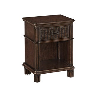 Home Styles Castaway Mahogany Night Stand with Hand-Woven Details