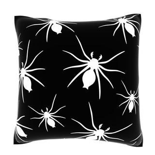 Maxwell Dickson Abstract Spider Pattern 18-inch Velour Throw Pillow