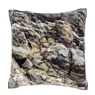 Maxwell Dickson Eroded Rock Texture 18-inch Velour Throw Pillow