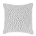 Maxwell Dickson Grey Leather Pattern 18-inch Velour Throw Pillow