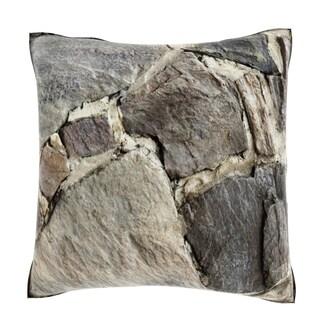 Maxwell Dickson Rock Building Pattern 18-inch Velour Throw Pillow
