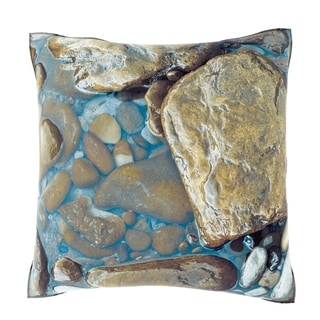 Maxwell Dickson Stones In Water 18-inch Velour Throw Pillow