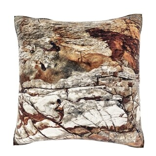 Maxwell Dickson Weathered Rock Texture 18-inch Velour Throw Pillow