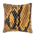 Snake Skin Leather Texture 18-inch Velour Throw Pillow