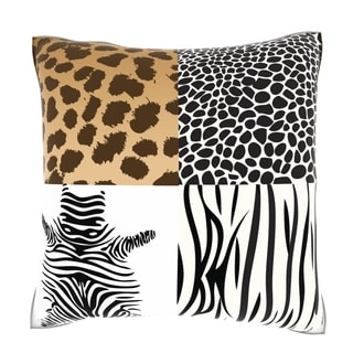 Multiple Animal Print 18-inch Velour Throw Pillow