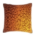 Golden Leopard Skin 18-inch Velour Throw Pillow