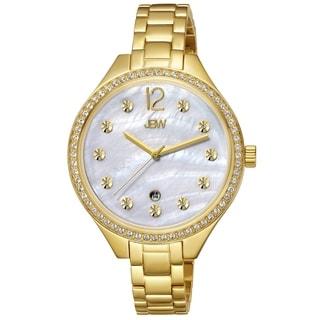 JBW Women's 'Mia' Crystal Yellow Goldtone Stainless Steel Watch