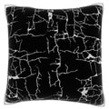 Cracked Paint 18-inch Black Velour Throw Pillow