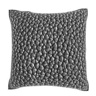 Black Leather Texture 18-inch Velour Throw Pillow