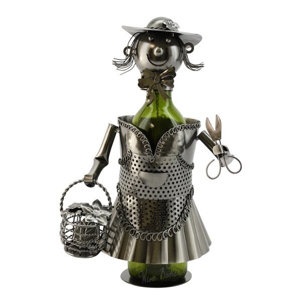 WineBodies Lady Gardener Metal Wine Bottle Holder