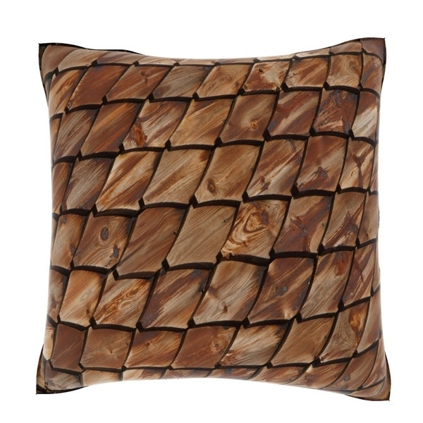 Woody Reptile Scales 18-inch Velour Throw Pillow