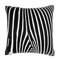 Zebra Hide Print 18-inch Velour Throw Pillow