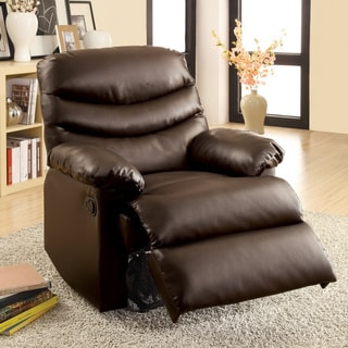 Furniture of America 'Dabury' Brown Bonded Leather Recliner