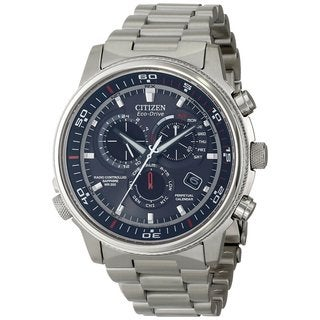 Citizen Men's 'Nighthawk' Quartz Silvertone Blue Dial Dress Watch