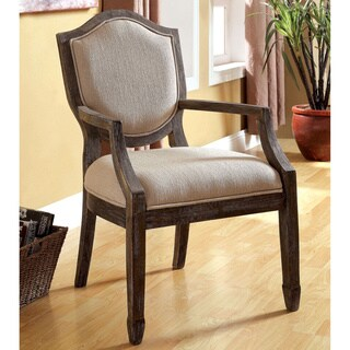 Furniture of America Alfie Reclaimed Grey/ Taupe Fabric Accent Chair