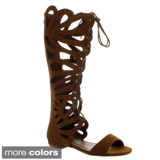 Forever Women's 'Caren-11' Cut-out Knee-high Gladiator Sandals
