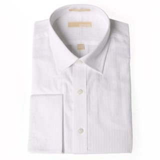Michael Kors Men's White Striped Dress Shirt