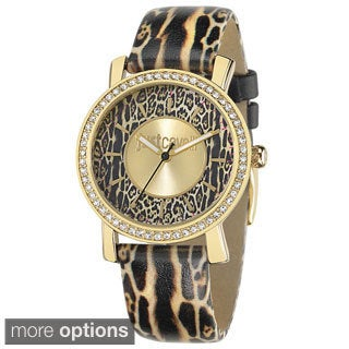 Just Cavalli Women's Mohak Animal Print Leather Watch