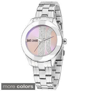 Just Cavalli Women's Silk Stainless Steel Watch