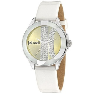 Just Cavalli Women's Silk White Leather Watch