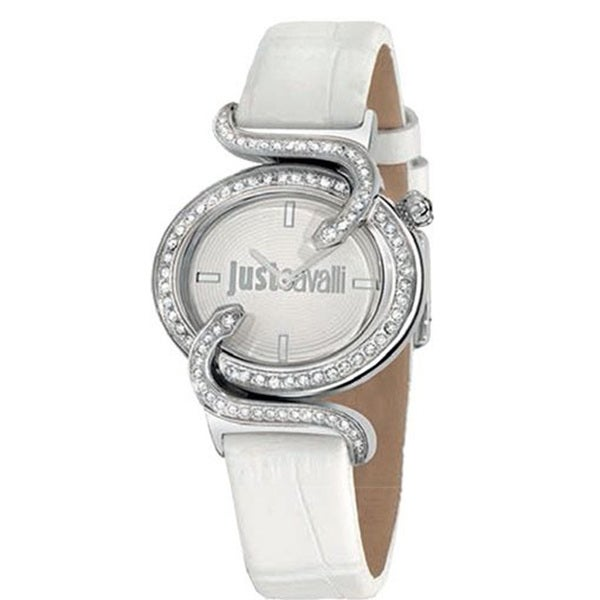 Just Cavalli Women's Sin White Leather Watch