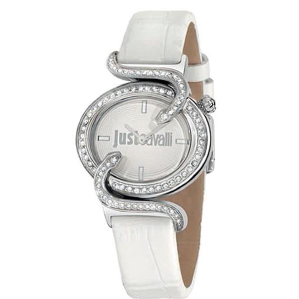 Just Cavalli Women's Sin White Leather Watch