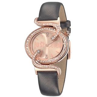 Just Cavalli Women's Sin Brown Leather Watch