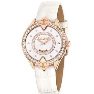 Just Cavalli Women's Sphinx White Leather Watch