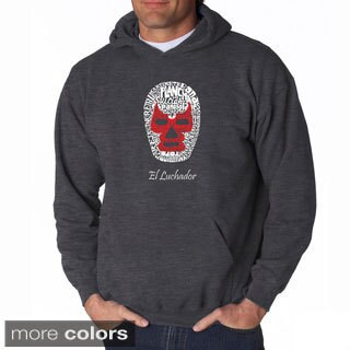 Los Angeles Pop Art Men's Luchador Wrestling Mask Sweatshirt