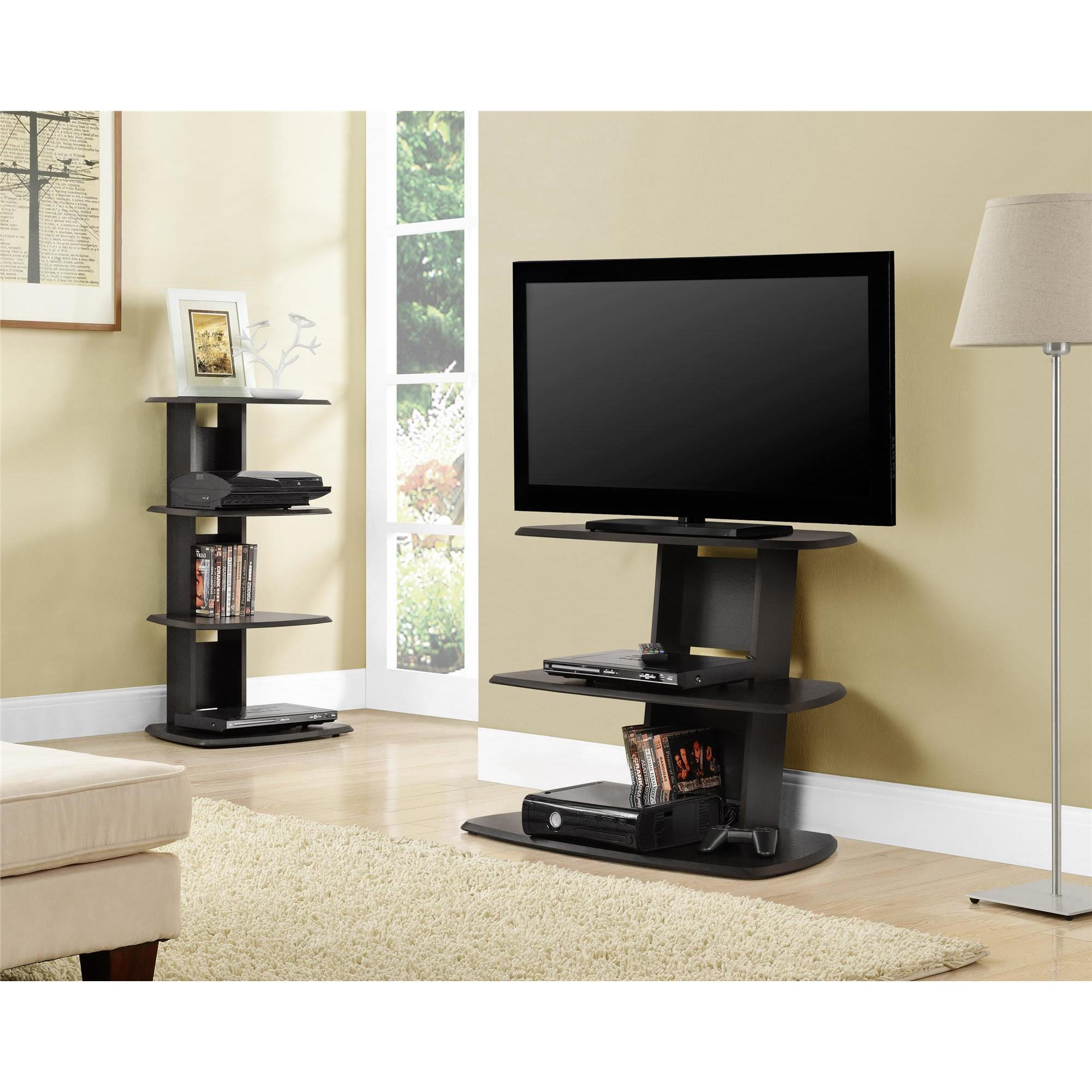 tall black corner tv stand viewing gallery