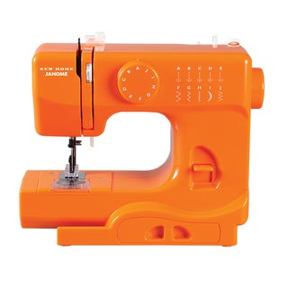 Janome Orange Blaze Half Size Portable Sewing Machine